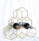 Gold Honeycomb Wine Holder