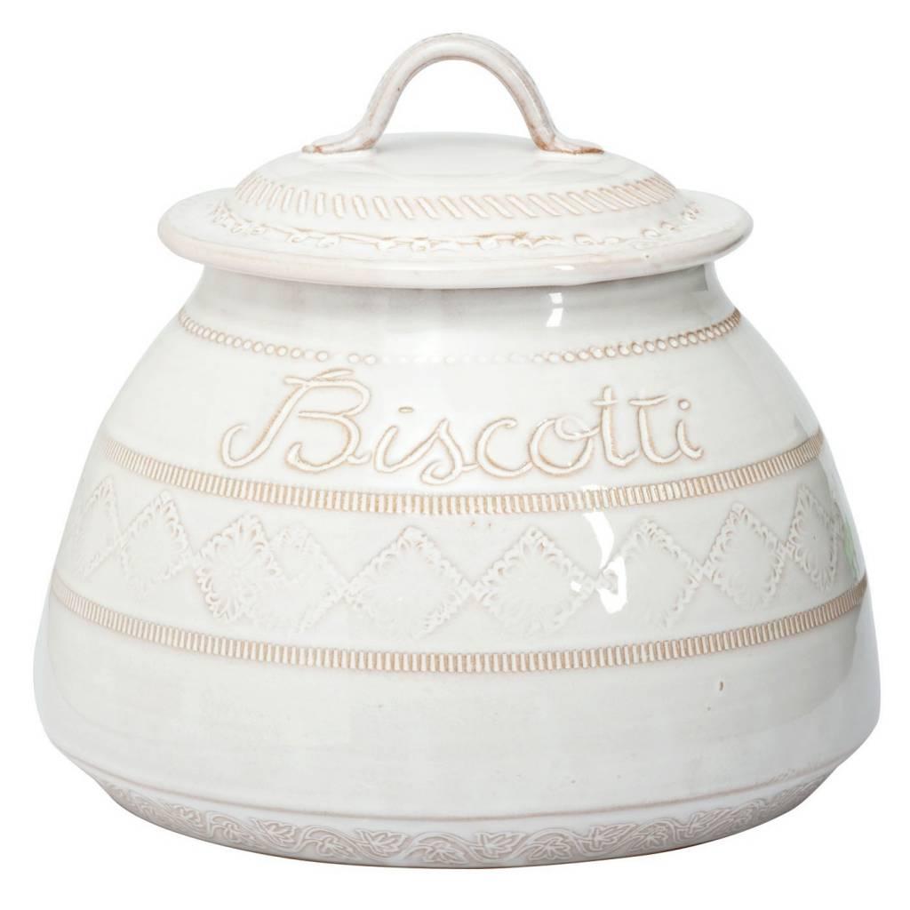 Bellezza White Biscotti Jar