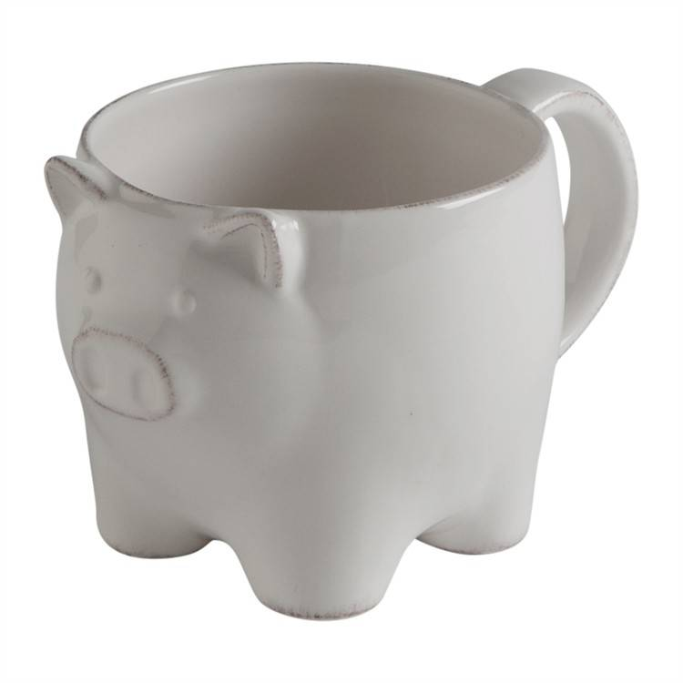 Antique Style Pig Mug