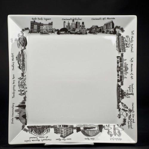Cincinnati Lg Square Platter