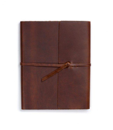 Lg Leather Writer's Log, Standard Lined Pages