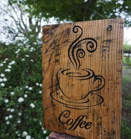 Coffee Reclaimed Barnwood Sign