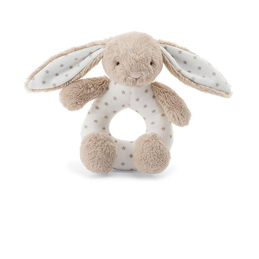Starry Bunny Ring Rattle Grabber