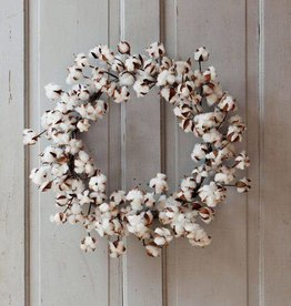 Cotton Wreath 22""