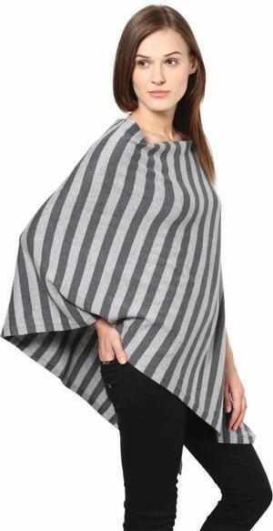 Lightweight Modern Stripe Cotton Poncho