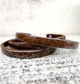 "1/4"" bracelet aged steel (rust)"