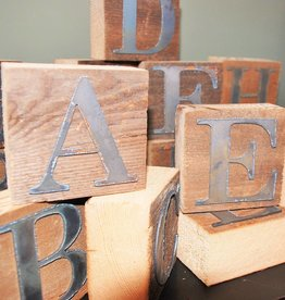 Reclaimed Wood & Metal Block Letters