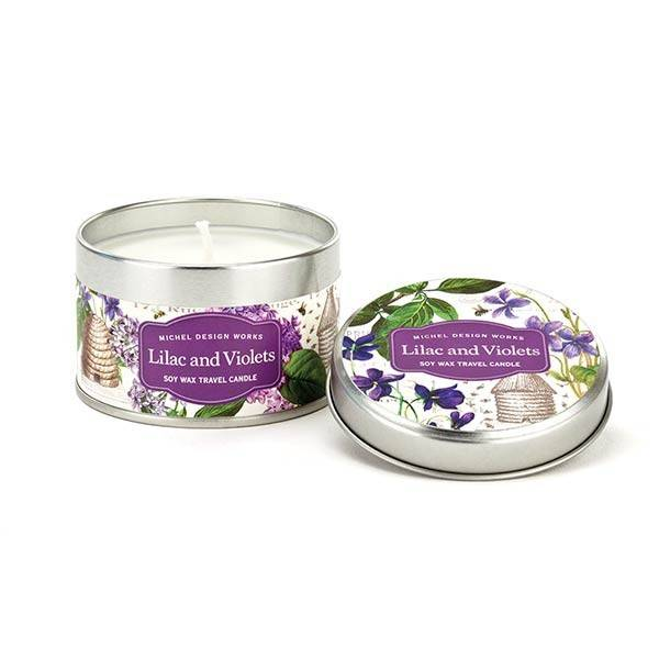 Lilac and Violets Travel Candle