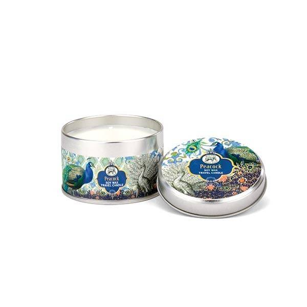 Peacock Travel Candle