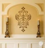 Villa Damask Furniture Stencil by Alison Woolley