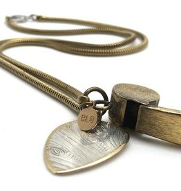 Guitar Pick Whistle Necklace