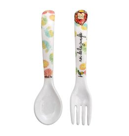 Fleurish Home Melamine Fork & Spoon Set
