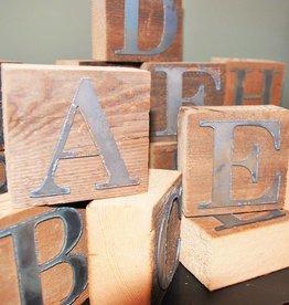 Reclaimed Wood & Metal Block Letters