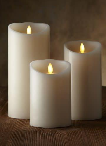 "7"" Luminara Pillar Candle w Timer & Batteries"