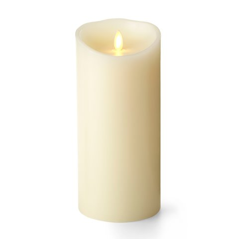 "Fleurish Home 9"" Luminara Pillar Candle w Timer & Batteries"