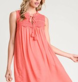 Frilly Smocked Sleeveless Dress (lined)