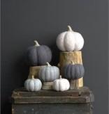 Sm Felted Wool Pumpkin Neutrals
