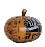 Sm Recycled Metal Pumpkin