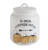 U-Pick Pumpkin Patch Stoneware Canister
