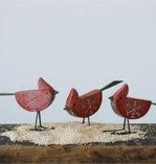 Fleurish Home Red Wooden Cardinal Bird (choice of 3 styles)