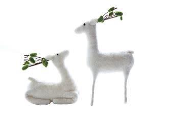 Fleurish Home Wool Felt Deer (2 styles)