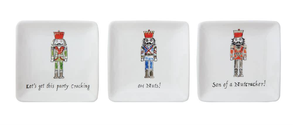 Fleurish Home Sm Square Whimsical Nutcracker Dish (3 styles)