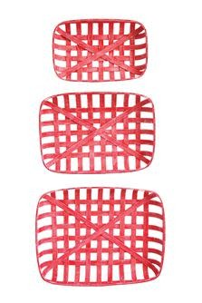 Lg Red Tobacco Basket