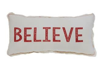 Fleurish Home Believe Pillow