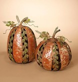 Lighted Metal Pumpkin (choice of 2 styles)