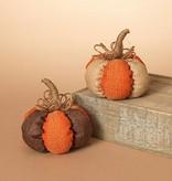 Burlap Harvest Pumpkin (2 asst)