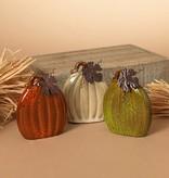 XS Flat Ceramic Pumpkin (3 asst)