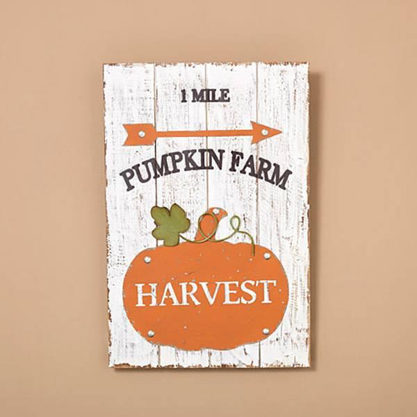 Pumpkin Farm Wood & Metal Wall Art