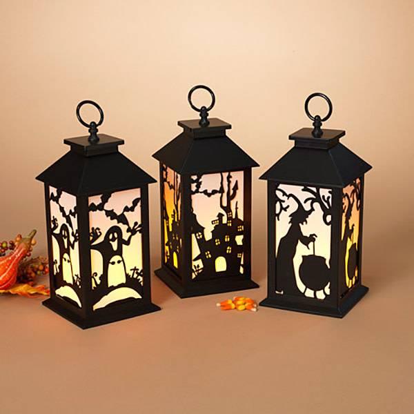 Lighted Halloween Lantern B/O (3 styles)