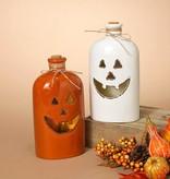 Lg Lighted Ceramic Halloween Bottle (2 styles)