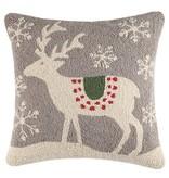 Fleurish Home Scandinavian Deer Hook Pillow