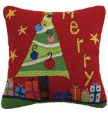 Merry Whismsical Hook Pillow
