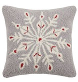 Fleurish Home Scandinavian Snowflake Hook Pillow