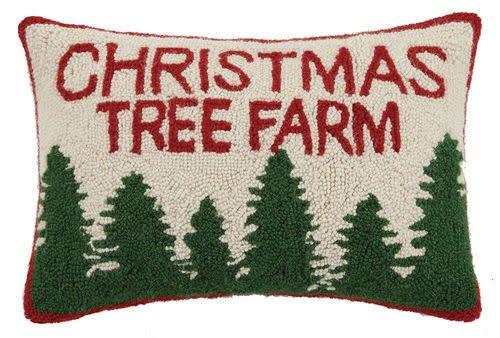 Christmas Tree Farm Hook Pillow