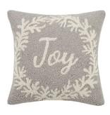 Fleurish Home Gray Joy Wreath Hook Pillow