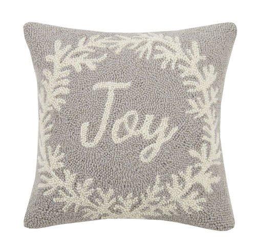 Gray Joy Wreath Hook Pillow