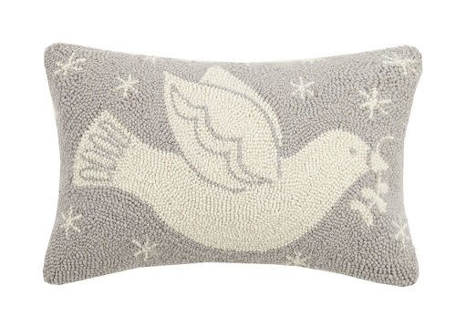 Dove Hook Pillow Gray