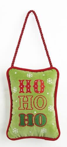 Ho Ho Ho Velvet Door Hanger Pillow