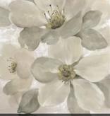 White on White Floral I Wall Art 24x24
