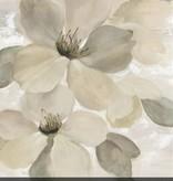 Fleurish Home White on White Floral II Wall Art 24x24