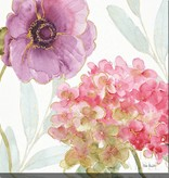 Fleurish Home Rainbow Seeds Flowers V Wall Art 20x20