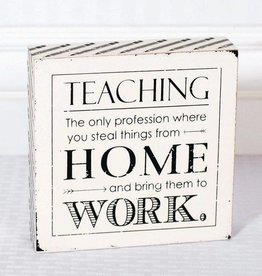 Fleurish Home Teacher Sign 6x6