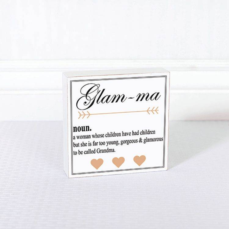 Fleurish Home Glam-ma Definition Sign 6x6