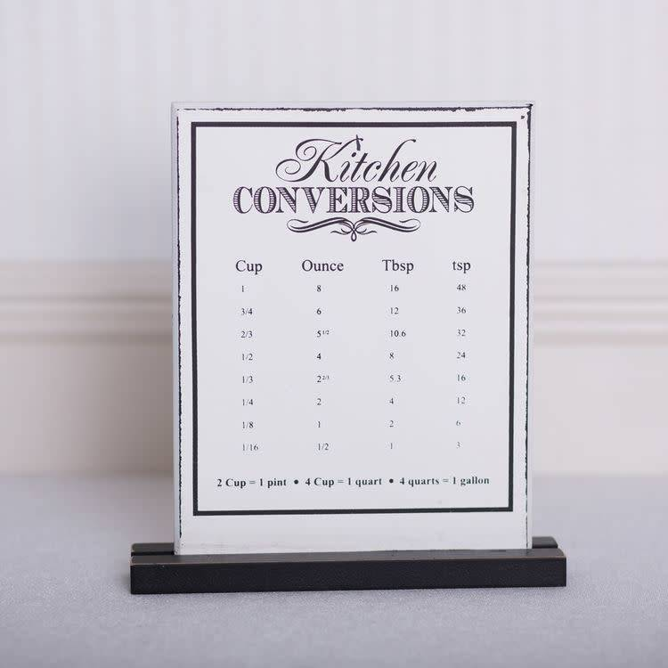 Fleurish Home Kitchen Conversions Sign 9x8