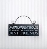 Grandparents House Sign 8x3