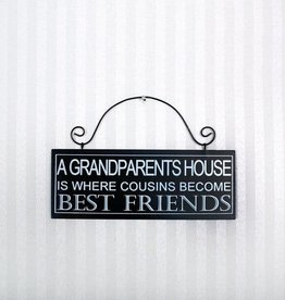 Fleurish Home Grandparents House Sign 8x3